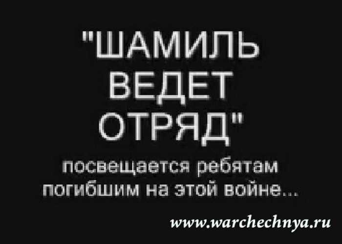 """""""Шамиль ведёт отряд"""""""