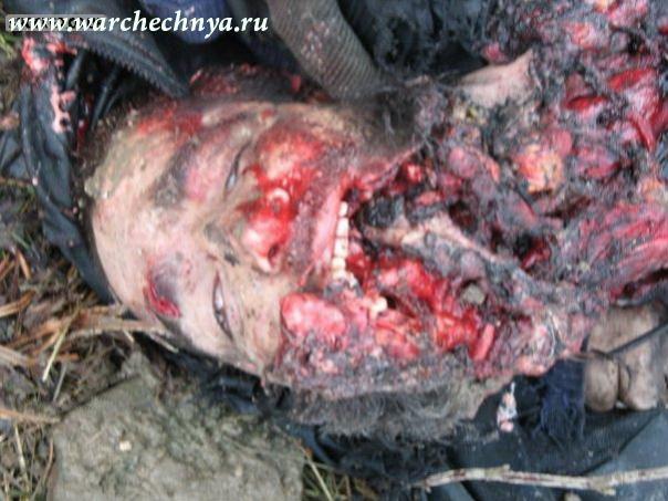Фото чеченской войны. Прямое попадание из РПГ в чеченских боевиков