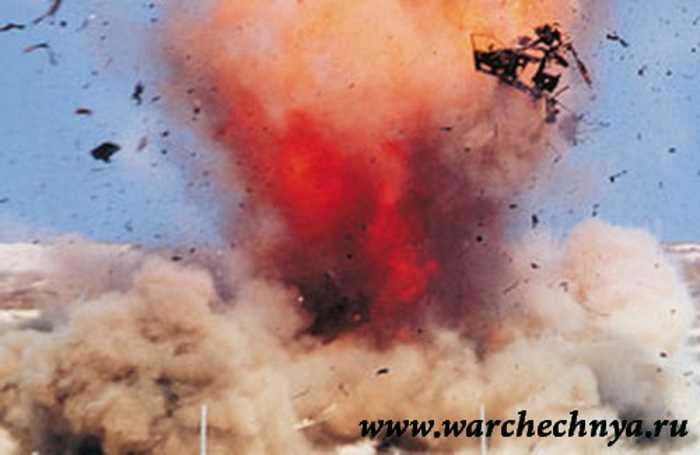 Подрыв инженерной разведки в Чечне