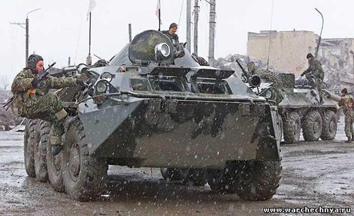 Первая чеченская война. На БТР по Грозному. Февраль, 1995 год
