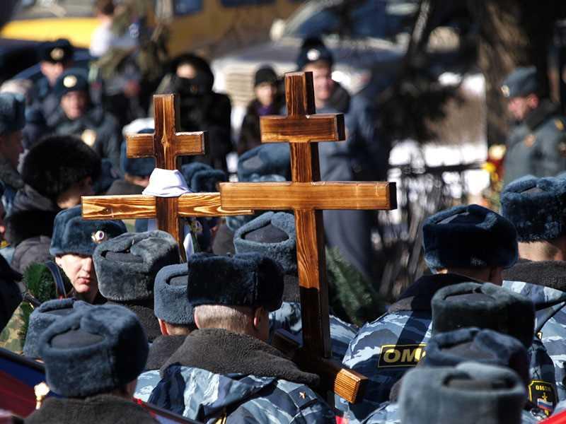 В Ставрополе прошла церемония прощания с погибшими сотрудниками ОМОНа