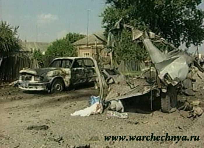 Вторая чеченская война. ОРТ Новости. Взрыв в Знаменском (06.2005)