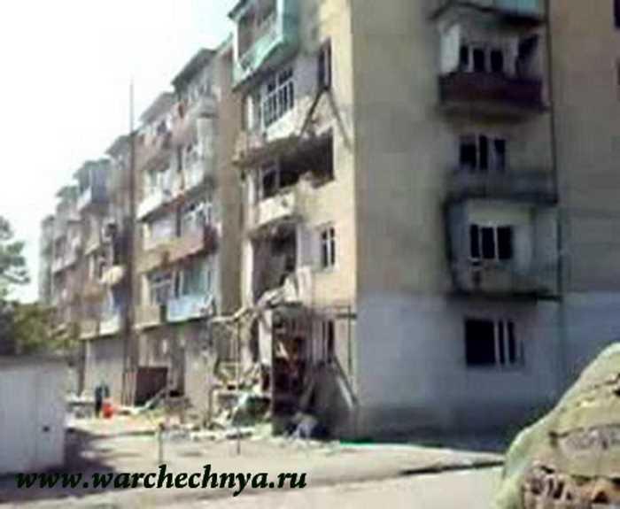 Цхинвал после боёв. 2008г. (поездка на БМП по городу)