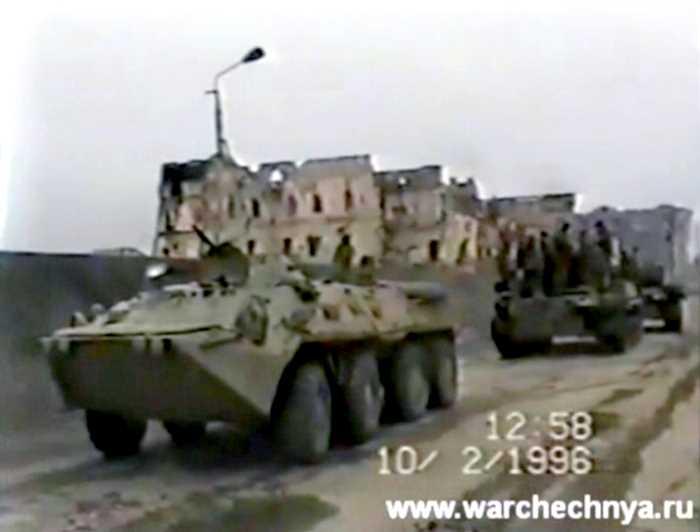 Первая чеченская война. Съёмки чеченских боевиков и федеральных войск