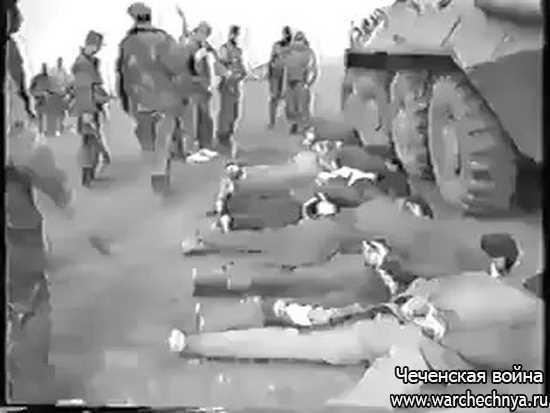 Первая чеченская война. Пленные чеченские боевики