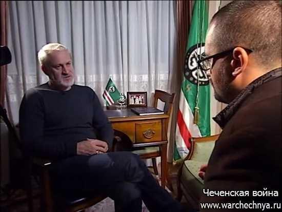 Интервью украинского телеканала с Ахмедом Закаевым