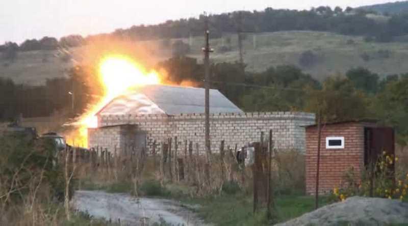 НАК опубликовал видео с места спецоперации в Ингушетии