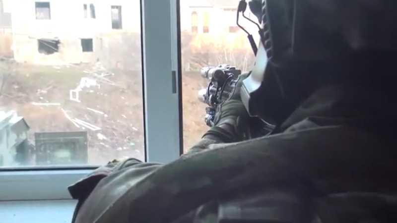 НАК опубликовал кадры боя силовиков с боевиками в Дагестане