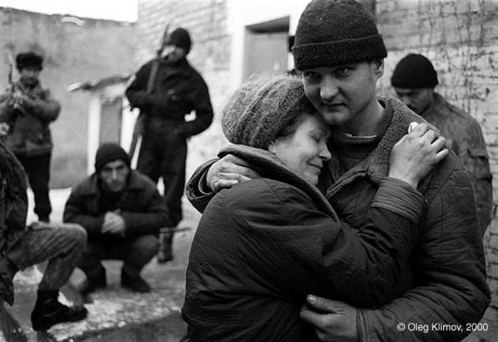 Фото Олега Климова чеченской войны