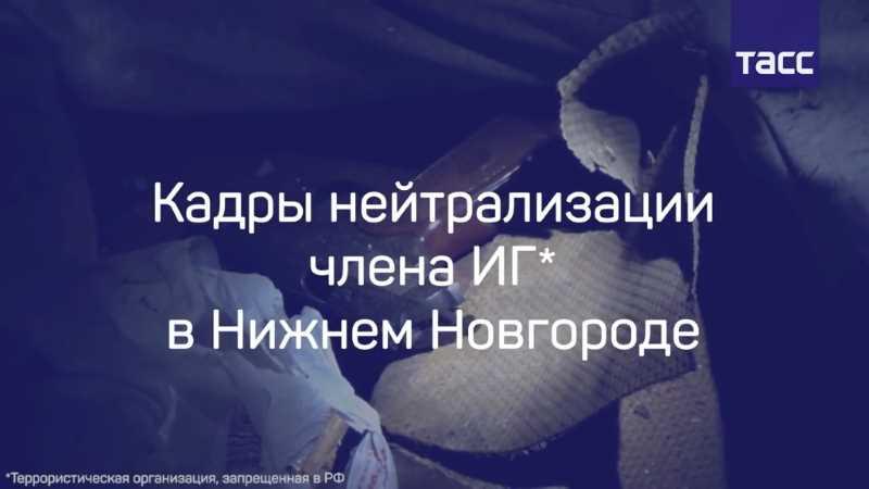 ФСБ опубликовала кадры ликвидации террориста в Нижнем Новгороде