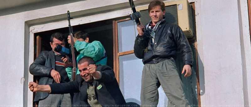 Торжествующие сторонники Дудаева