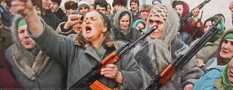 Вооруженный митинг сторонников Дудаева