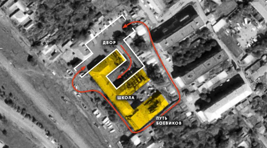 Карта начала захвата школы №1