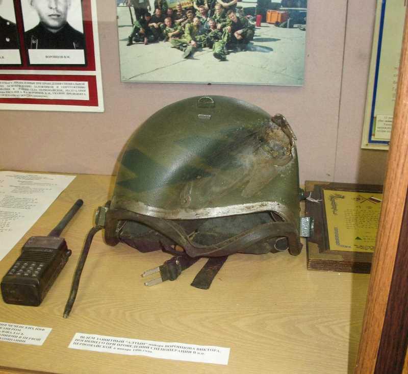 «Алтын» (шлем) Виктора Воронцова в Музее Управления «А»