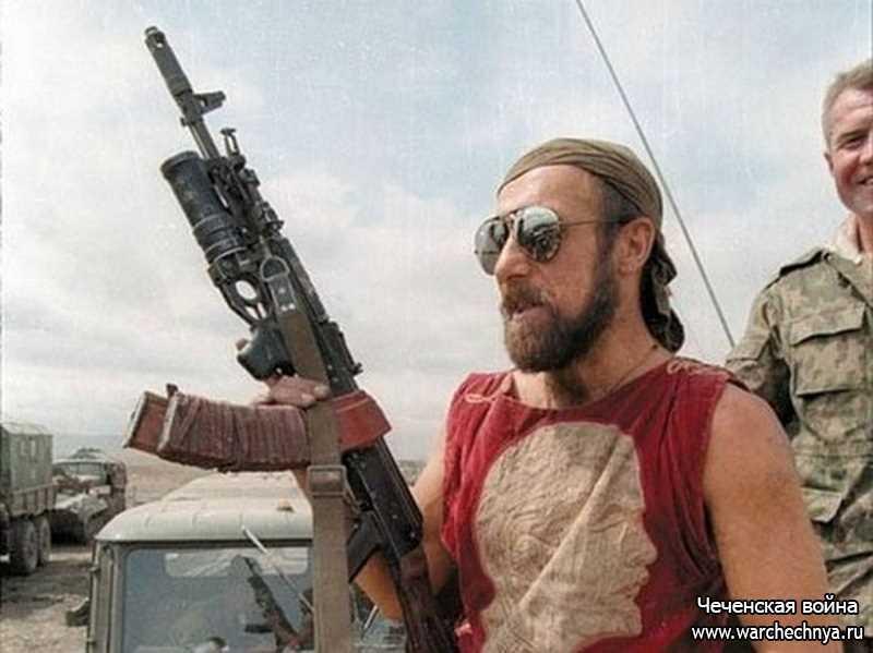 Российские контрактники в Чечне