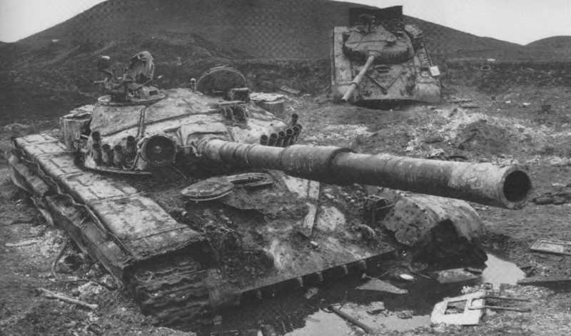 Танки Т-62 на войне в Чечне