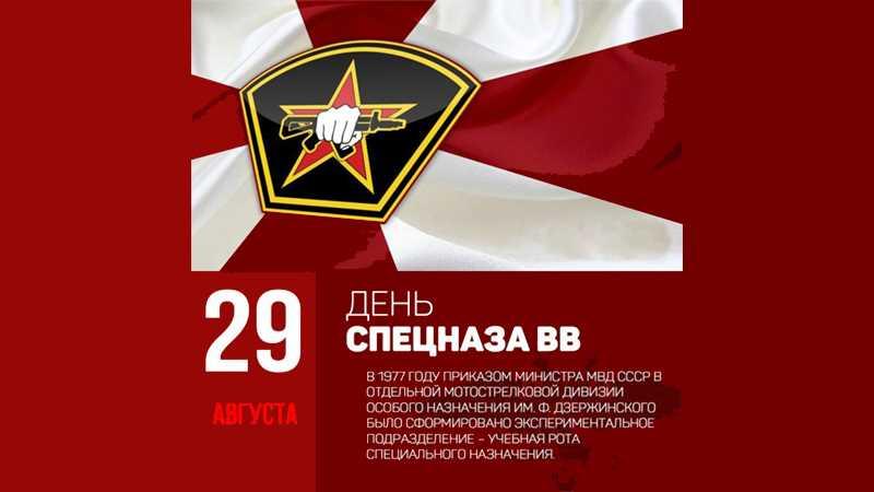 29 августа - День спецназа ВВ МВД