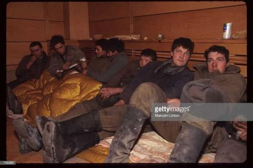 A group of Chechen soldiers sit January, 1995 in Russia
