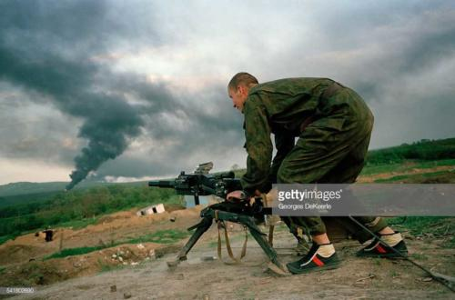 Russian Army Attacks Bamout During First Chechen War2