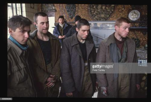These four Russian soldiers were taken prisoner by the Chechen rebels during Russia's offensive against the break-away republic of Chechnya