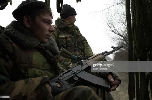 2 Alert for guerrillas, Russian troops head into Grozny November 23, 2000, capital of the breakaway republic of Chechnya