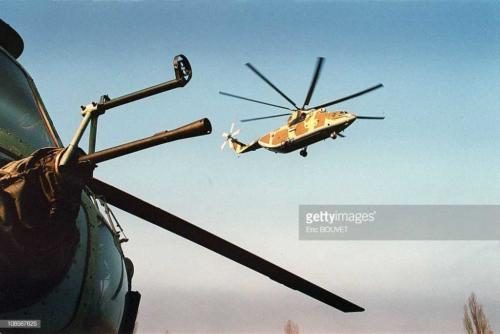 2 Helicopters over Argun in Russia in December , 1999