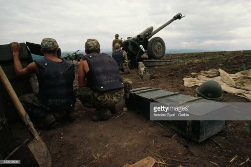2 Russian Artillery Bombarding Dagestan against Muslim fundamentalists from Chechnya under Shamil Basayev who attempt, staged an abortive insurrection in Dagestan20