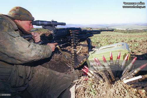A Russian Paratrooper Patrols The Russian-Chechen Border Sunday, September 26, 1999-2