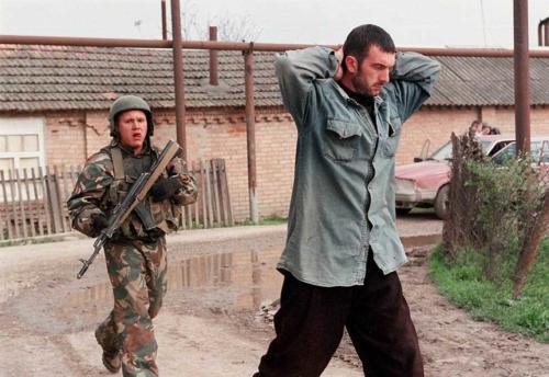 Операция по зачистки в Чечне. Апрель 2002 г.